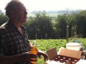 John Teiser in his Orchard