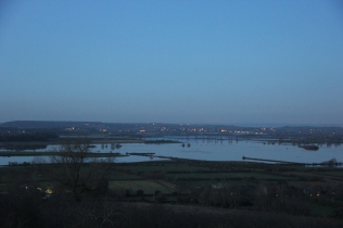 View from the top of Burrow Hill Dec 11 2012