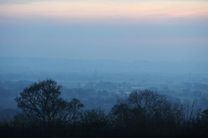 Twilight near Wedmore