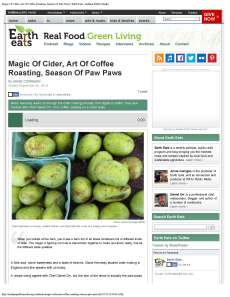 Magic Of Cider, Art Of Coffee Roasting, Season Of Paw Paws | Earth Eats - Indiana Public Media_Page_1