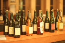 The fifteen bottles of West County ciders sorted for sampling.