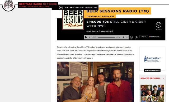 Beer Sessions Radio Still Cider pic